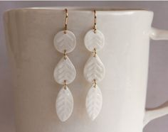 white porcelain  water etched  tiny drops and by RemnantCeramics, $54.00