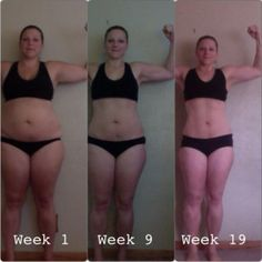 Super proud of Amanda!  She has done AMAZING work on her transformation so far! :)