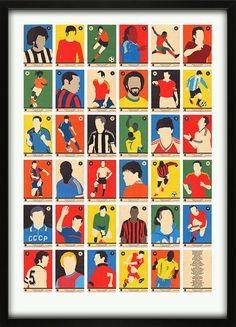 Football Legends A-to-Z Print Alphabet 67 Inc.com