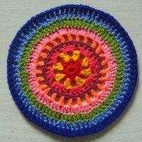 Crochet Mandala Wheel made by Annie, Texas, USA for yarndale.co.uk