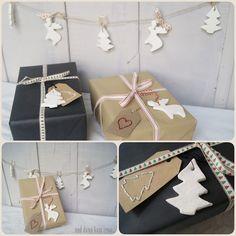 Geschenkanhänger schneeweiße Weihnachtsornamente