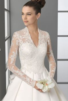 Satin Wedding Dresses long sleeve wedding dress - Whether you are going to be a bride and marry soon or you are still single, you will certainly care about that topic. All girls who are not married always keep looking at the wedding dresses Lace Wedding Dress With Sleeves, Long Sleeve Wedding, Lace Bridesmaid Dresses, Gorgeous Wedding Dress, Long Wedding Dresses, Bridal Dresses, Wedding Gowns, Lace Sleeves, Lace Weddings