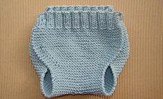 braguita de bebé tejida a dos agujas, knit baby romper