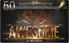 مدونة محترف فوتوشوب: حصريا 50 استايل فوتوشوب Bundle Mix Styles v.6