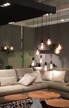 Trendscout IMM Köln 2017 - Stil-Fabrik Blog Christoph Baum Pendelleuchten in Glühbirne form