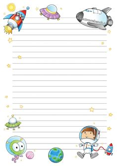 Space Party, Space Theme, Kindergarten Portfolio, Space Classroom, School Frame, Powerpoint Background Design, Space Activities, Borders For Paper, Stationery Paper