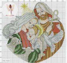 Cross stitch *@* Feliz Natal Xmas Cross Stitch, Cross Stitch Needles, Cross Stitch Cards, Counted Cross Stitch Patterns, Cross Stitch Designs, Cross Stitching, Cross Stitch Embroidery, Religious Cross, Christmas Embroidery