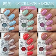 Gelish Once Upon a Dream Collection Swatches by Chickettes.com