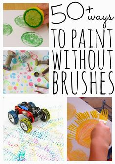 preprimary junior Painting without Brushes | Over 50 Ideas & Materials to Use
