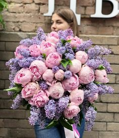 Dreamy huge Lilac & Peonies bouquet by 💗 _________________ by Magazine Luxury Flowers, Fresh Flowers, Beautiful Flowers, Beautiful Flower Arrangements, Floral Arrangements, Fleur Design, Peonies Bouquet, Pink Peonies, Peony