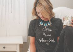 Coffee.Pizza.Gilmore Girls Unisex Tee.
