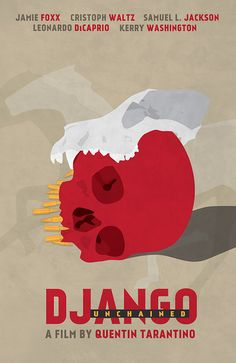 Django Unchained (2012) ~ Minimal Movie Poster by Neven Udovicic #amusementphile
