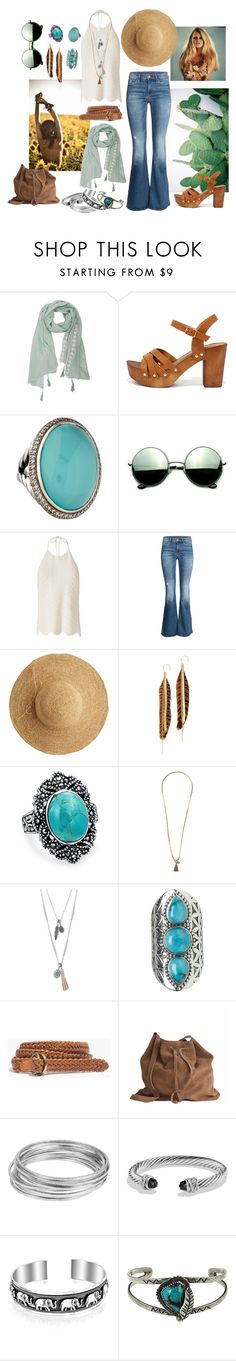 """La Boheme"" by sophier on Polyvore featuring Qupid, David Yurman, Revo, Exclusive for Intermix, H&M, Flora Bella, Serefina, Bling Jewelry, Eloquii and Lucky Brand"