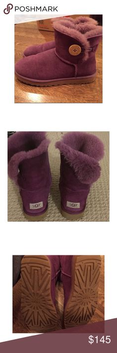 Short Purple Baily Button Uggs! GREAT CONDITION! Worn a few times. Have nothing really to wear with them anymore! They feel great too! IF U WANT TO MAKE AN OFFER, COMMENT UR OFFER & WE WILL MAKE SOMETHING WORK UGG Shoes
