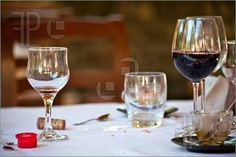 Stock photo available for sale at FeaturePics: Photo of Still life with glasses and wine.