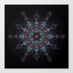 Buy Supernova Mandala Canvas Print by ovidiuradubaciu. Worldwide shipping available at Society6.com. Just one of millions of high quality products available.