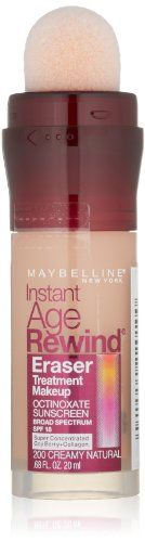 Maybelline New York Instant Age Rewind Eraser Treatment Makeup Creamy Natural 200 068 Fluid Ounce *** To view further for this item, visit the image link.