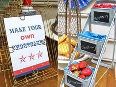 build your own berry shortcakes and other cute backyard BBQ ideas :)