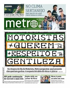 #gentilezageragentileza  Capa Metro Jornal Grande Vitória