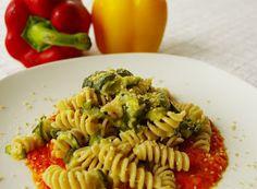 Denny Chef Blog: Fusilli alle zucchine e crema di peperoni!