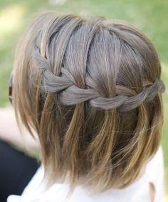 Cute Waterfall Braid for Short Hair 2015 – 2016