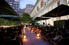 Bryant Park Grill Rooftop wedding