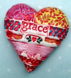 """Ceramic Grace Heart"" by KarenFincannon  on etsy"