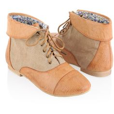 db7b0e664179 Fold Over Ankle Boots found on Polyvore  Someone buy me these..  I