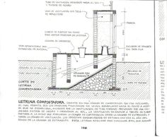 A schematic diagram of a continuous composting toilet