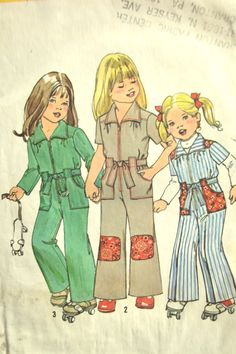 70's kids jumpsuit. I love this!