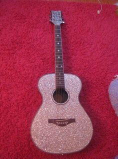 Pink Rhinestone Guitar...EXACTLY what I need!!!