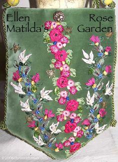Silk Ribbon Embroidery | ... Matildas Rose Garden Purse- silk ribbon embroidery by Christen Brown