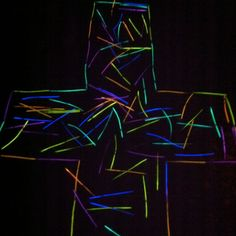 PRAYER STATION - Being and sharing the light of Christ. Cool way to display being the light or the cross forgiveness of sins (everyone has a light stick to bring up to place in the large light up cross) Prayer Ministry, Youth Ministry, Ministry Ideas, Prayers For Children, Kids Prayer, Prayer Ideas, Worship Night, Prayer Stations, Light Of Christ