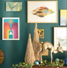 emily henderson- romantic green meets mordern neutral sculpture meets brass and glitz. wow