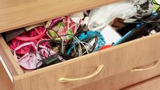 Chances are, some of the stuff in your junk drawer still has some life left in it. Check out these ideas to help you reuse old items. Clearing Out Clutter, Clutter Free Home, Fabric Scissors, Eco Friendly House, Reuse Recycle, Junk Drawer, Dresser Drawers, Saved Items, Let Them Talk