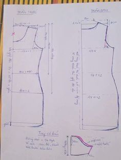 So mi Nu vai khong co gian TT - Salvabrani Clothing Patterns, Dress Patterns, Sewing Patterns, Sewing Clothes, Doll Clothes, Pattern Blocks, Fabric Flowers, Couture Fashion, Diy And Crafts