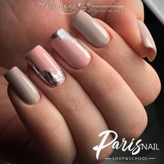 100 trendy new nail art collections worth having - Page 90 of 127 - Inspiration Diary Fancy Nails, Pink Nails, Cute Nails, Pretty Nails, Jolie Nail Art, Manicure E Pedicure, Manicure Ideas, New Nail Art, Foil Nails