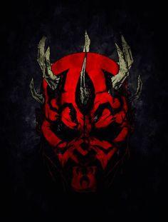 The Dark Side Maul needs hugs. Darth Maul, Star Wars Sith, Clone Wars, Star Trek, Dark Side, Mundo Nerd, Deadpool, Illustration Inspiration, Jedi Sith