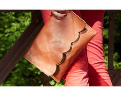 Scallop Foldover Clutch -- DIY Inspiration (selling for $148.00 by Wise & Proper)