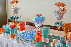 Wedding candy buffet - Stacy Able Photography