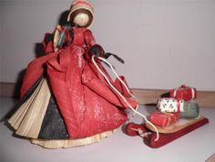 Nan's Dolls Corn Husk Cornhusk Holiday Visitor Christmas Presents 1990 on ebay
