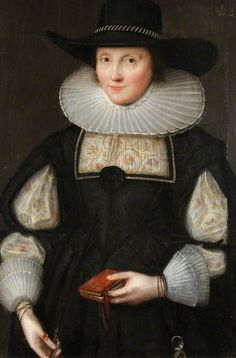 """Portrait of an Unknown Woman, Aged 41"", style of Marcus Gheeraerts the younger, 1629; NT 1151374"