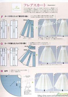 Mod@ en Line@. Patrones de faldas y formas