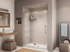 "Fleurco Platinum In-Line 57""- 59"" Door and Panel- Glass to Glass Hinges PL57 $837.60"