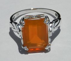 Untreated Natural 295 Carat Fire Opal Ring by bluefirejewelry, $80.00