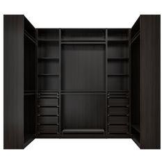 Pax System, Walking Closet, Master Closet, Closet Bedroom, Walk In Closet Size, Small Walk In Wardrobe, Walk In Closet Design, Pax Planer, Outfits