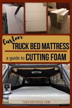 Looking for a truck camping mattress? You may want to cut your existing foam mattress to shape! Read our post for a tutorial on using a bread knife for this simple DIY project, and land yourself with a foam camping mattress that fits perfectly. Truck Bed Mattress, Custom Mattress, Diy Mattress, Camping Mattress, Diy Camping, Truck Bed Camping, Camping Ideas, Camping Hacks, Pickup Camping