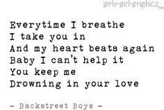 Backstreet Boys lyrics - Drowning