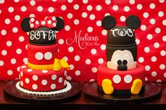Minnie and Mickey for a sweet girl that turned two!