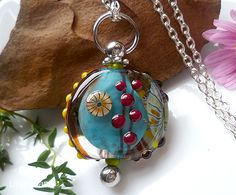 LinaFIRE | Lampwork - Lampwork Bead changeable pendant Jewelry Boards, Jewelry Art, Dichroic Glass, Glass Beads, Art And Craft Design, Lampworking, Lampwork Beads, Bead Art, Designer